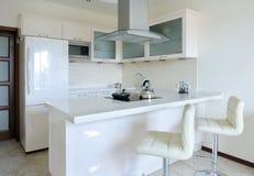 Modern binnenland. Keuken Stock Foto's