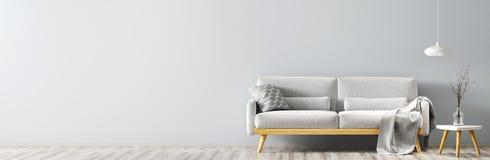 Modern binnenland met bankpanorama het 3d teruggeven royalty-vrije illustratie