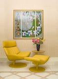 Modern binnenland met vitrage Royalty-vrije Stock Afbeeldingen