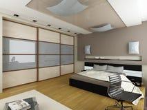 Modern binnenland. Slaapkamer. Stock Afbeeldingen