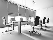 Modern binnenland van bureau Stock Afbeeldingen