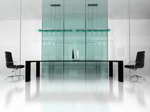 Modern binnenland van bureau Royalty-vrije Stock Afbeelding