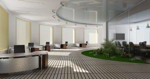 Modern binnenland van bureau Stock Afbeelding