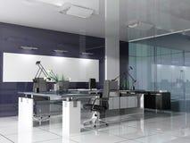 Modern binnenland van bureau Stock Fotografie