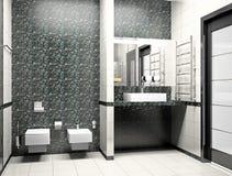 Modern binnenland van een 3D badkamers vector illustratie