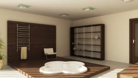 Modern binnenland van een badkamers Royalty-vrije Stock Foto's