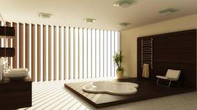 Modern binnenland van een badkamers Royalty-vrije Stock Foto