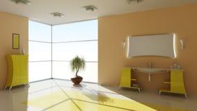 Modern binnenland van een badkamers Stock Afbeelding