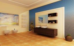 Modern binnenland van een badkamers Royalty-vrije Stock Fotografie