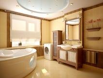Modern binnenland van een badkamers Royalty-vrije Stock Afbeelding