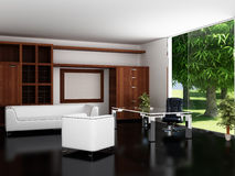 Modern binnenland van een bureau. royalty-vrije illustratie
