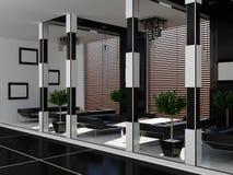 Modern binnenland van een koffiehuis Stock Afbeeldingen