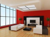 Modern binnenland van een ruimte stock illustratie