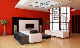 Modern binnenland van een ruimte Stock Afbeelding