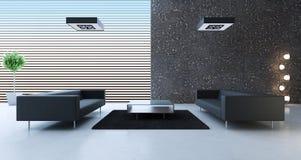 Modern binnenland van een ruimte Stock Foto