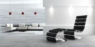 Modern binnenland van een ruimte Royalty-vrije Stock Afbeeldingen