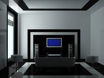 Modern binnenland van een woonkamer Stock Afbeelding