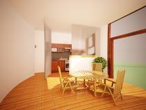 Modern binnenland van een woonkamer Stock Afbeeldingen