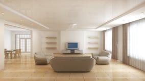 Modern binnenland van een woonkamer stock illustratie