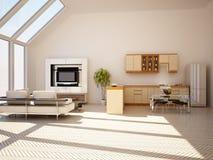 Modern binnenland van een woonkamer Royalty-vrije Stock Afbeelding