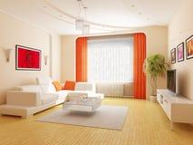 Modern binnenland van een woonkamer Royalty-vrije Stock Fotografie