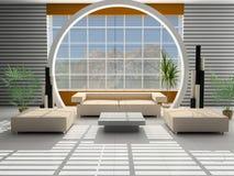 Modern binnenland van een zaal royalty-vrije stock afbeelding
