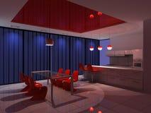 Modern binnenland van keuken Royalty-vrije Stock Foto's