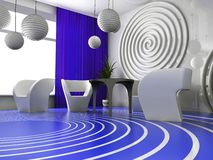 Modern binnenland van koffie Royalty-vrije Stock Afbeelding