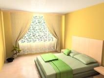 Modern binnenland van slaapkamer Royalty-vrije Stock Afbeelding