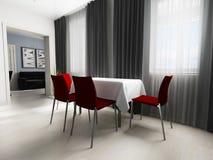 Modern binnenland van woonkamer royalty-vrije stock foto
