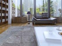 Modern binnenland van woonkamer Stock Fotografie