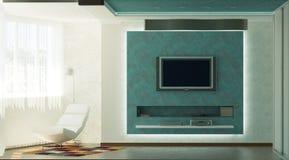 Modern binnenland | Woonkamer Stock Afbeelding