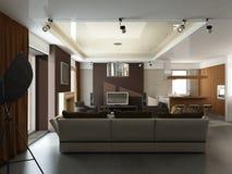 Modern binnenlands ontwerp Stock Fotografie