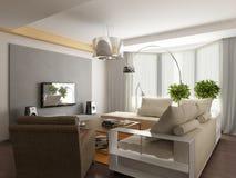 Modern binnenlands ontwerp Stock Afbeeldingen