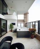Modern binnenlands ontwerp - Badkamers Stock Foto