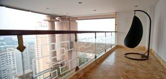 Modern binnenlands ontwerp - balkon Stock Fotografie