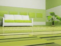 Modern binnenlands ontwerp van woonkamer Stock Afbeeldingen
