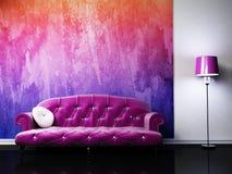 Modern binnenlands ontwerp van woonkamer vector illustratie