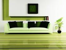 Modern binnenlands ontwerp van woonkamer royalty-vrije illustratie