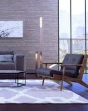 Modern binnenlands ontwerp van woonkamer Stock Foto's