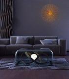 Modern binnenlands ontwerp van woonkamer Stock Fotografie
