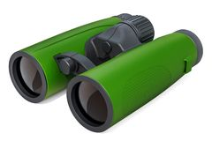Modern Binoculars, 3D rendering. Isolated on  white background Royalty Free Stock Images