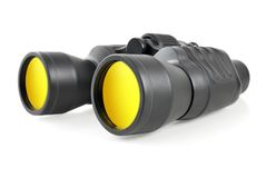 Modern binoculars on white Stock Photography