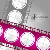 Modern Bioskoopontwerp Als achtergrond Het winkelen markeringen en pictogrammen Minimale Filmillustratie EPS10 Stock Afbeeldingen
