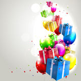 Modern birthday background Stock Images