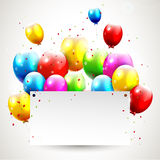 Modern birthday background Royalty Free Stock Photos