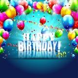 Modern birthday poster Royalty Free Stock Image