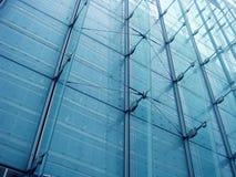 modern blå byggnad Arkivbild