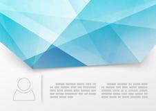 Modern blå crystal tryckhäftemall Arkivfoto