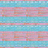 Modern blå, rosa och orange mosaikdesign med borsteslaglängdtextur på subtil målad texturerad bakgrund royaltyfri illustrationer
